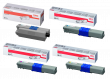 Oki 4446970 4 Colour Toner Cartridge Multipack - (44469803, 44469706, 44469705 & 44469704)
