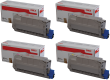 Oki 4239620 High Capacity 4 Colour Toner Cartridge Multipack - (45396204/3/2/1)