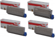 Genuine 4 Colour Oki 4239630 Toner Cartridge Multipack - (45396304/3/2/1)