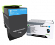 Genuine Cyan Lexmark 71B0020 Toner Cartridge (71B0020 Laser Printer Toner)