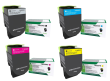 Genuine 4 Colour Return Program Lexmark 71B20 Toner Cartridge Multipack (71B20K0/C0/M0/Y0)
