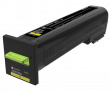 Lexmark 82K2HY0 High Capacity Yellow Return Program Toner Cartridge