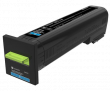 Genuine Extra High Capacity Cyan Return Program Lexmark 82K2XC0 Toner Cartridge - (82K2XC0)