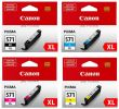 Canon CLI-571XL High Capacity 4 Colour Ink Cartridge Multipack - (CLI-571BK/C/M/Y-XL)