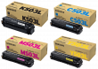 Genuine 4 Colour Samsung CLT-503 Toner Cartridge Multipack (CLT-K503L/C503L/M503L/Y503L)
