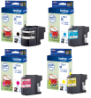 Genuine 4 Colour Brother LC22U Ink Cartridge Multipack (LC-22UBK/C/M/Y)