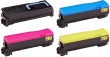 Genuine 4 Colour Kyocera TK-570 Toner Cartridge Multipack - (TK-570K/C/M/Y)