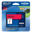 Brother TZe-451 Black On Red Laminated P-Touch Labelling Tape 24mm x 8m
