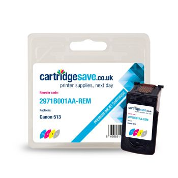 Compatible Canon CL-513 High Capacity Tri-Colour Ink Cartridge - (2971B001AA)