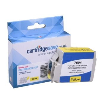 Compatible Epson T7604 Yellow Ink Cartridge - (C13T760440 Killer Whale)
