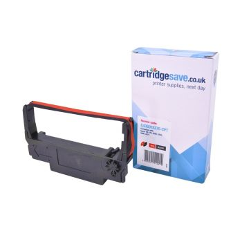 Compatible Epson ERC-38 Black/Red Fabric Ribbon - (C43S015376)