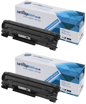 Compatible HP 35A Black Toner Cartridge Twin Pack - (CB435AD)