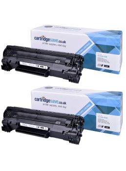 Compatible HP 85A Black Toner Cartridge Twin Pack (CE285AD)