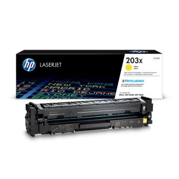 HP 203X High Capacity Yellow Toner Cartridge - (CF542X)