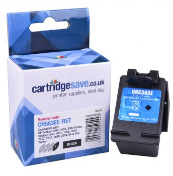 Compatible HP 301XL High Capacity Black Ink Cartridge - (CH563EE)