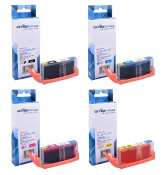 Compatible Canon CLI-551XL High Capacity 4 Colour Ink Cartridge Multipack