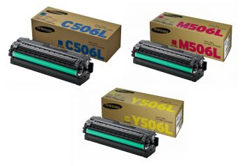 Samsung 506 High Capacity 3 Colour Toner Cartridge Multipack