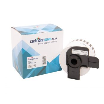 Compatible Brother DK-N55224 Black On White 54mm x 30.5m Non Adhesive Label Tape