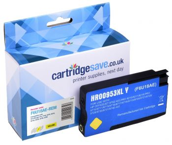 Compatible High Capacity Yellow HP 953XL Ink Cartridge - (F6U18AE)