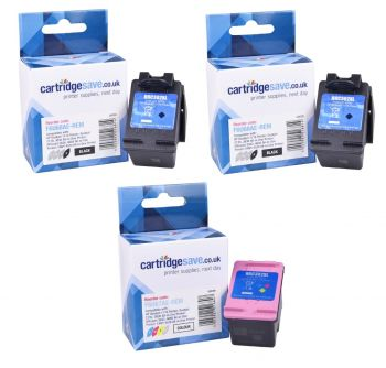 Compatible HP 302XL High Capacity 2 x Black & Tri-Colour Ink Cartridge Multipack