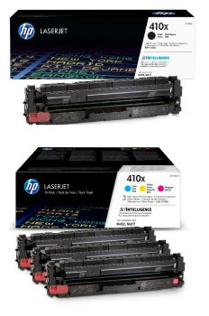 HP 410X 4 Colour High Capacity Toner Cartridge Multipack (CF410X & CF252XM)