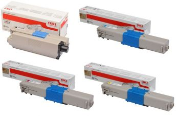 Oki 4650870 High Capacity 4 Colour Toner Cartridge Multipack