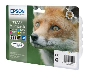 Epson T1285 4 Colour Ink Cartridge Multipack - (T1285 Fox)