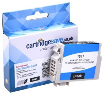 Compatible Epson 16XL High Capacity Black Ink Cartridge - (T1631 Pen and Crossword)