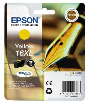 Epson 16XL Yellow High Capacity Ink Cartridge - (T1634 Pen and Crossword)