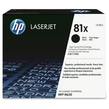 HP 81X High Capacity Black Toner Cartridge - (CF281X)