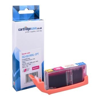 Compatible Canon CLI-551MXL High Capacity Magenta Printer Cartridge - (6445B001)