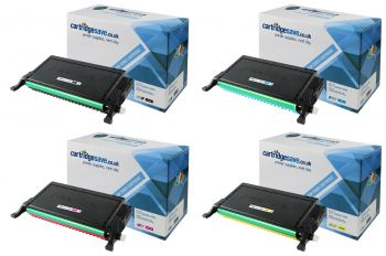 Compatible Samsung CLP-660B High Capacity 4 Colour Toner Cartridge Multipack (CLP-K660B/C660B/M660B/Y660B)