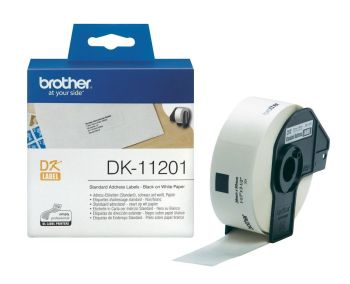 Brother DK-11201 400 x Black On White 29mm x 90mm Standard Adhesive Address Labels Paper (DK11201 Tape)