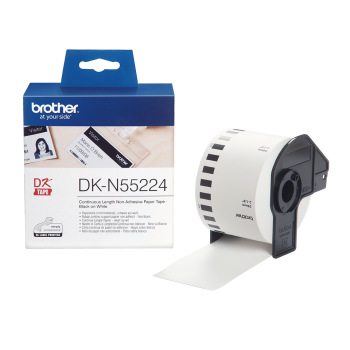 Brother DK-N55224 Black On White 54mm x 30.5m Non Adhesive Tape Paper (DKN55224 Tape)