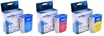 Compatible HP 82 High Capacity 3 Colour Ink Cartridge Multipack