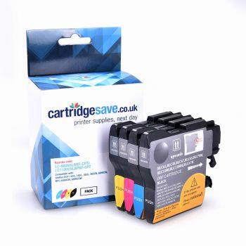 Compatible Brother LC980 4 Colour Ink Cartridge Multipack (LC-980VALBRF)