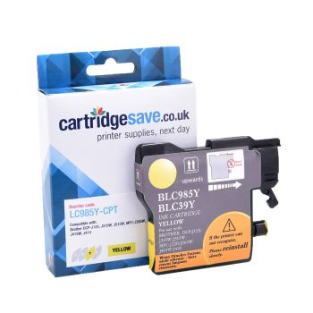 Compatible Brother LC985Y Yellow Ink Cartridge