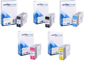 Compatible Canon PFI-107 5 Colour Ink Cartridge Multipack