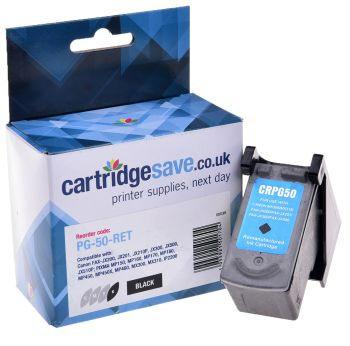 Compatible Canon PG-50 High Capacity Black Ink Cartridge - (0616B001)