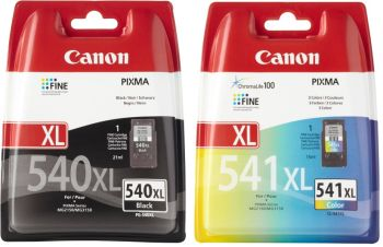 Canon PG-540XL / CL-541XL High Capacity Black & Tri-Colour Ink Cartridge Multipack