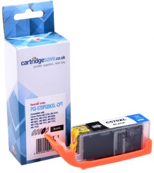 Compatible Canon PGI-570XL High Capacity Black Printer Cartridge - (PGI-570PGBKXL)