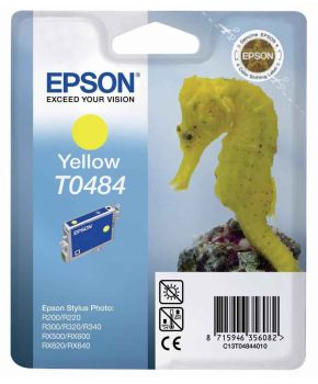 Epson T0484 Yellow Ink Cartridge - (C13T048440 Seahorse)