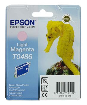 Epson T0486 Light Magenta Ink Cartridge - (C13T048640 Seahorse)