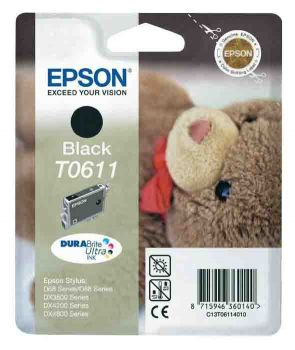 Epson T0611 Black Ink Cartridge - (T061140 Teddybear)