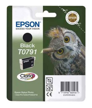 Epson T0791 Black Ink Cartridge - (C13T079140 Owl)
