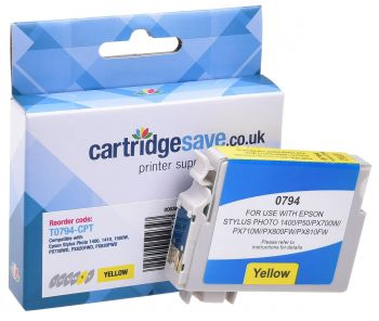 Compatible Epson T0794 Yellow Ink Cartridge - (C13T079440 Owl)