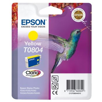 Epson T0804 Yellow Ink Cartridge - (C13T080440 Hummingbird)