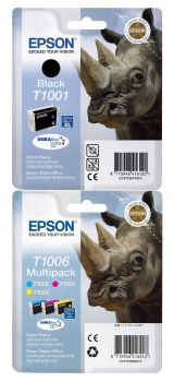 Epson T100 4 Colour Ink Cartridge Multipack - (Rhino)
