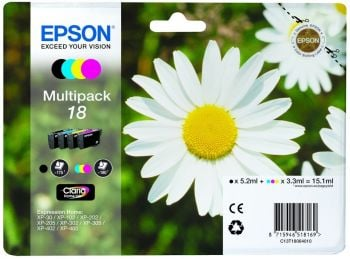 Epson 18 4 Colour Ink Cartridge Multipack - (T1806 Daisy)