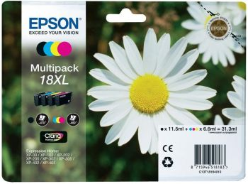Epson 18XL High Capacity 4 Colour Ink Cartridge Multipack (T1816 Daisy)
